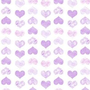 Watercolor Hearts, Violet