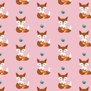 MotherBabyFox_rose