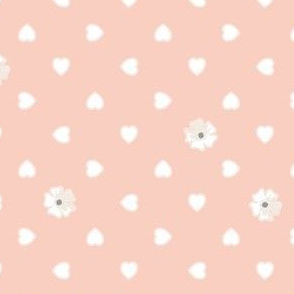 Hearts and Flowers - The Wedding Edition in peach