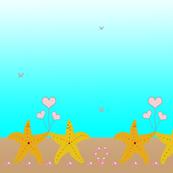Summer Love Border Print Starfish