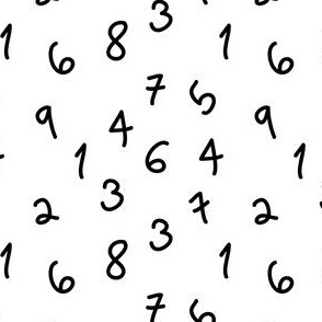 numbers black and white kids scandi minimal black and white