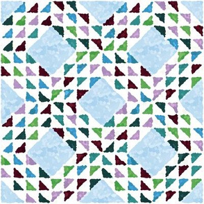 Ocean Waves Quilt Block