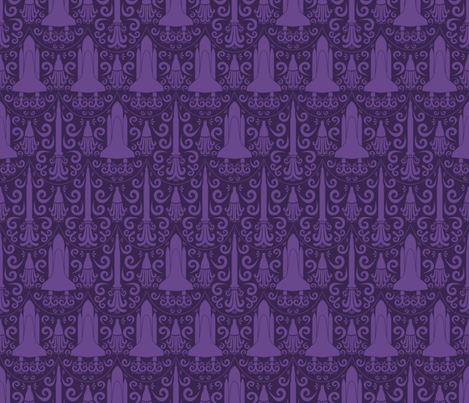 Rocket Science Damask (Purple)