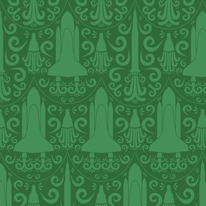 Rocket Science Damask (Green)
