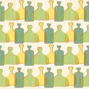 Green Googie Bottles