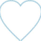 XOX Heart Frame Blue