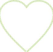 Heart Frame Green