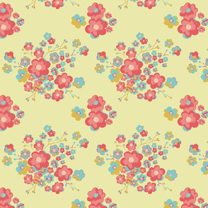 Painterly Floral, lemon