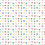 Rainbow Watercolor Hearts