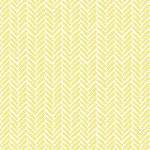 Modern Herringbone, Yellow