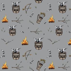 Bear Theme Grey