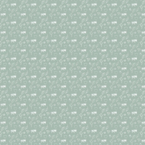 Sinister Shabby ditzy green