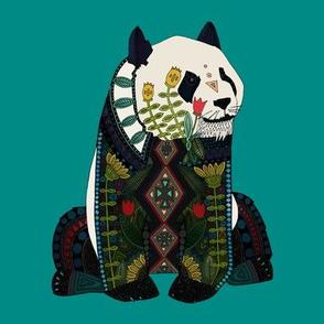 panda teal swatch