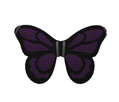Black with Gray Butterfly Texture for Wing Outlines