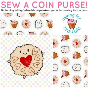 Jammie Dodger Coin Purse - Cut & Sew Pattern