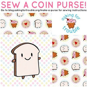 Bread Slice Coin Purse - Cut & Sew Pattern