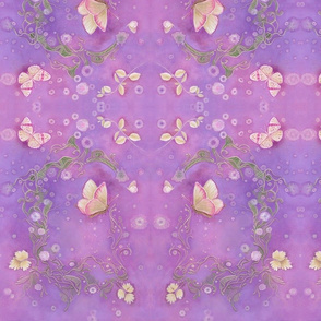 Butterfly Scrolls in Orchid Purple