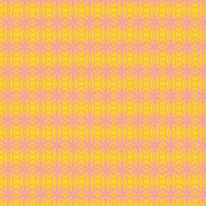 Soft Knit/yellow & pink