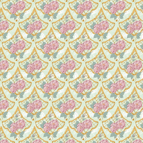 Floral Scallop Light Green