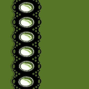 Gem Eyelet Green Black