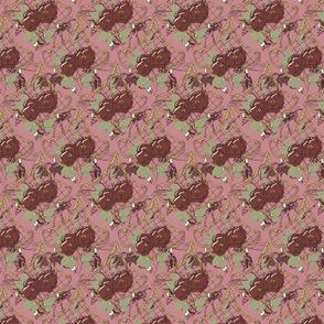 Dark Scalloped Floral Pink