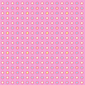 Pink Flower Polka Dots