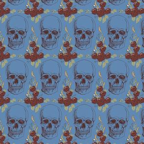 Dark Floral Skull