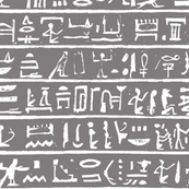 Egyptian Heiroglyphics in Greys - Small