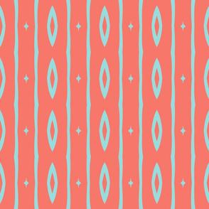 Retro Colors Vertical Stripe 2