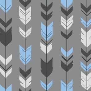 Arrow Feathers-blue/grey - baby boy