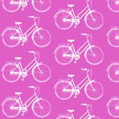 Bicycles on Pink - Medium