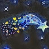Starry Night Stardust Fat Quarter