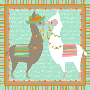 Llama pillow mix n match panel