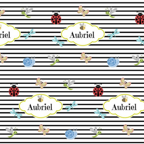 Buggles and Stripes Personalized Aubriel