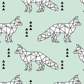 geometric fox // mint