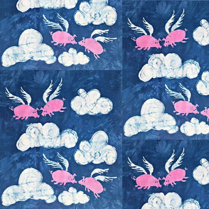 Flying Pigs Batik 4