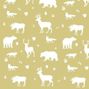 woodland animals // gold