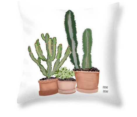 Southwest Succulents and Cactus Plants large design