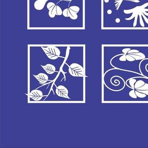 Symbols Squares Quilt Top