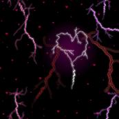 Love strikes the heart like a lightning bolt