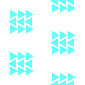 Mod teal triangles w/white