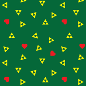 Triforce and Heart on Green