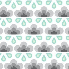 hex drop rain cloud