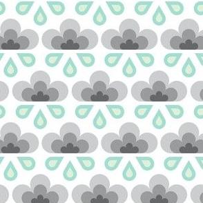 hex drop rain cloud