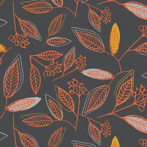 Wild Forest Leaves (dark)