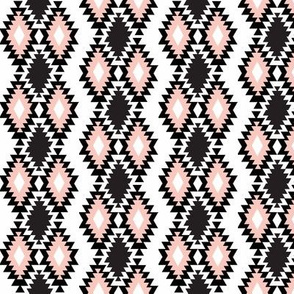 Southwestern Aztec - Black and Blush Pink