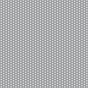 White Polka Dots on Grey