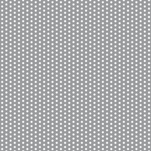 White Polka Dots on Grey
