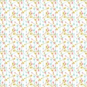arrows // coral mint mustard tiny size mini print
