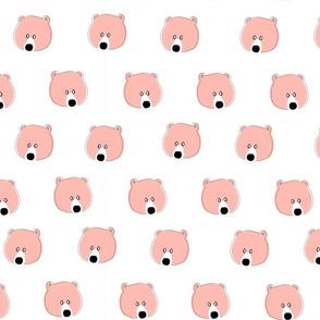 Happy Days Little Bear face pink